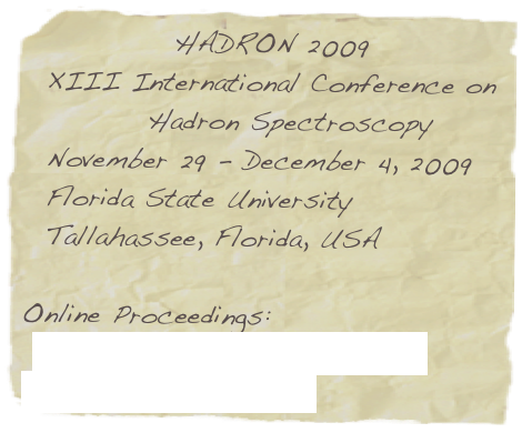 HADRON 2009 